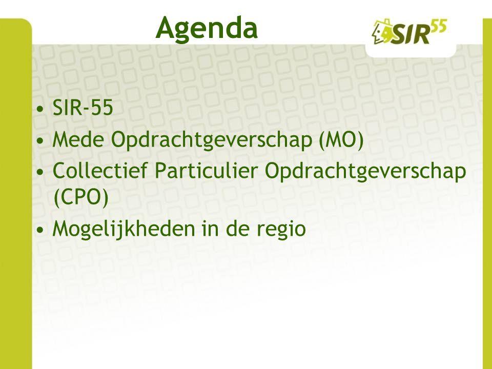 Agenda SIR-55 Mede Opdrachtgeverschap (MO)