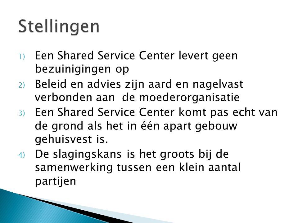 Stellingen Een Shared Service Center levert geen bezuinigingen op