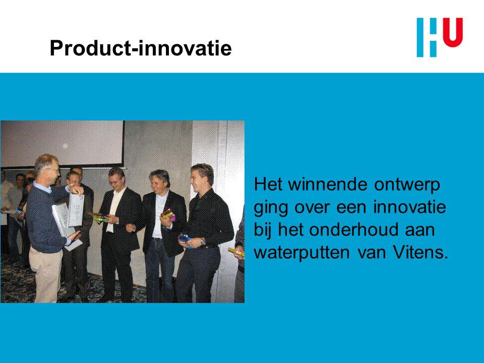 xxxxxxxxxxxxxxx 4/4/2017. Product-innovatie. Het winnende ontwerp ging over een innovatie bij het onderhoud aan waterputten van Vitens.