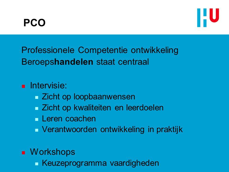 PCO Professionele Competentie ontwikkeling