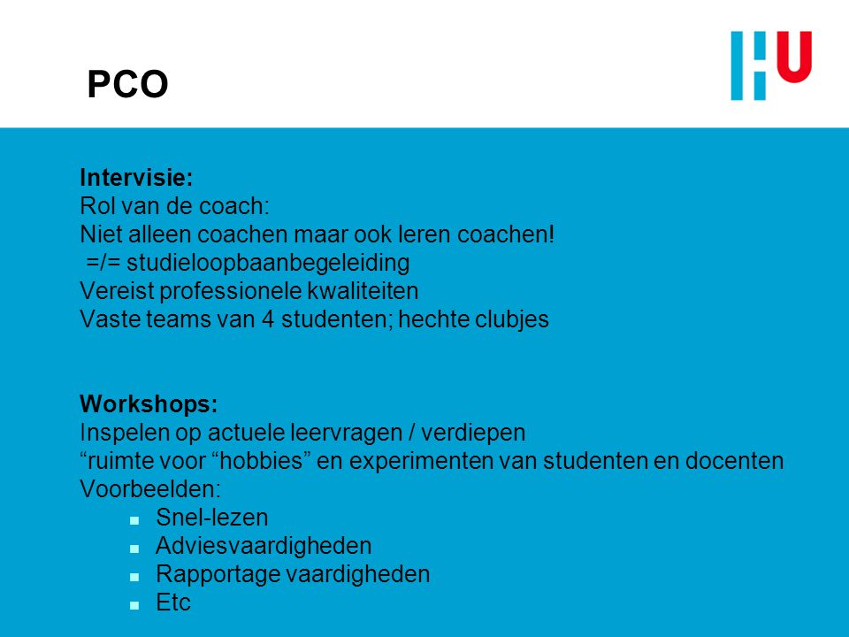 PCO Intervisie: Rol van de coach: