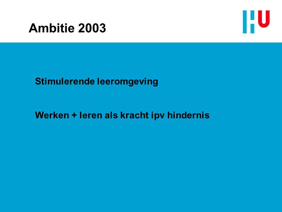 Ambitie 2003 Stimulerende leeromgeving