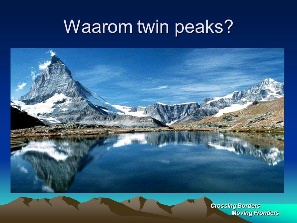 Waarom twin peaks Crossing Borders Moving Frontiers