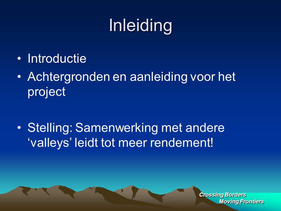 Inleiding Introductie Achtergronden en aanleiding voor het project