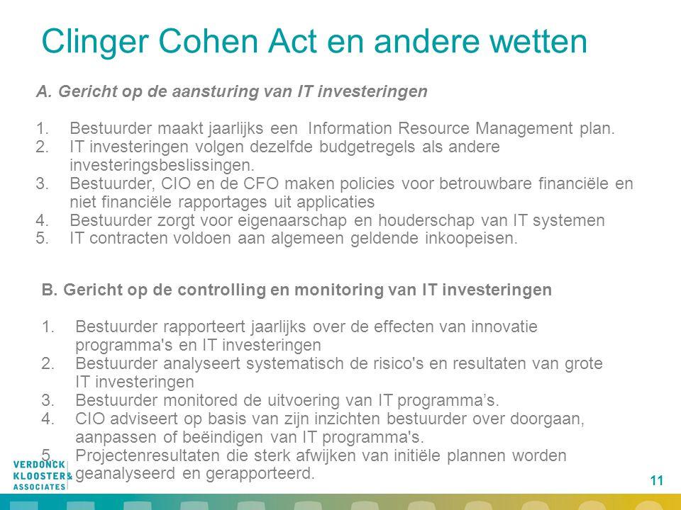 Clinger Cohen Act en andere wetten