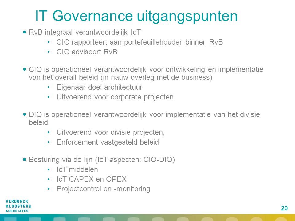 IT Governance uitgangspunten