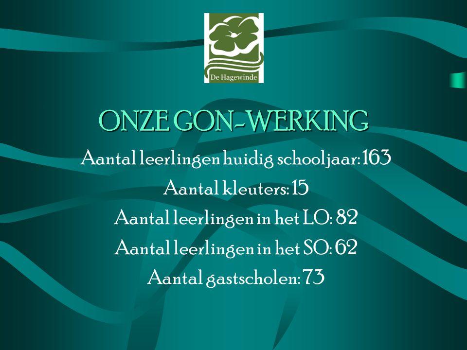 ONZE GON-WERKING Aantal leerlingen huidig schooljaar: 163