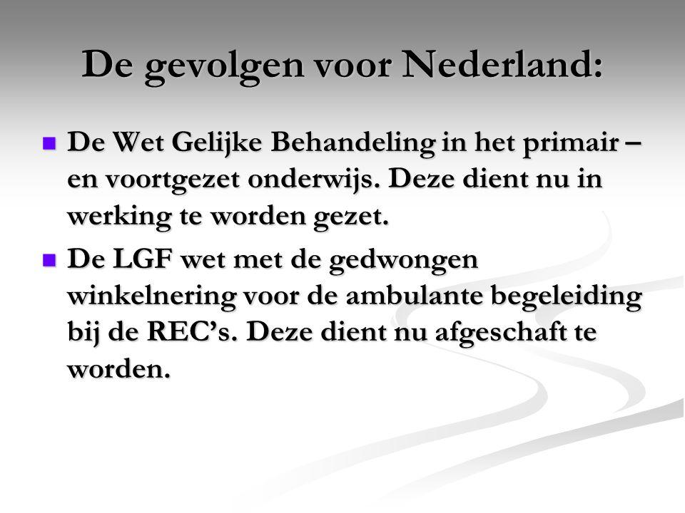 De gevolgen voor Nederland: