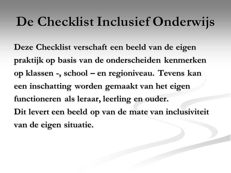 De Checklist Inclusief Onderwijs