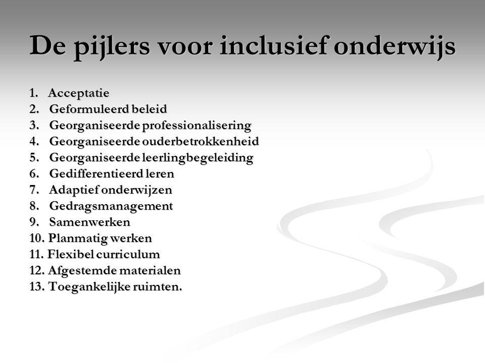 De pijlers voor inclusief onderwijs