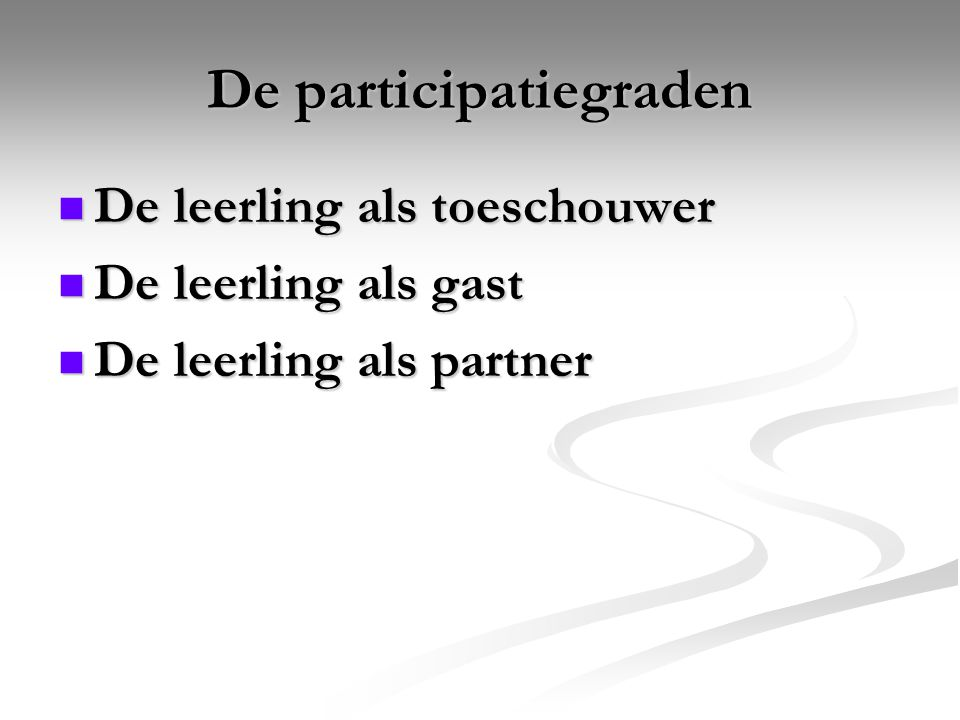 De participatiegraden