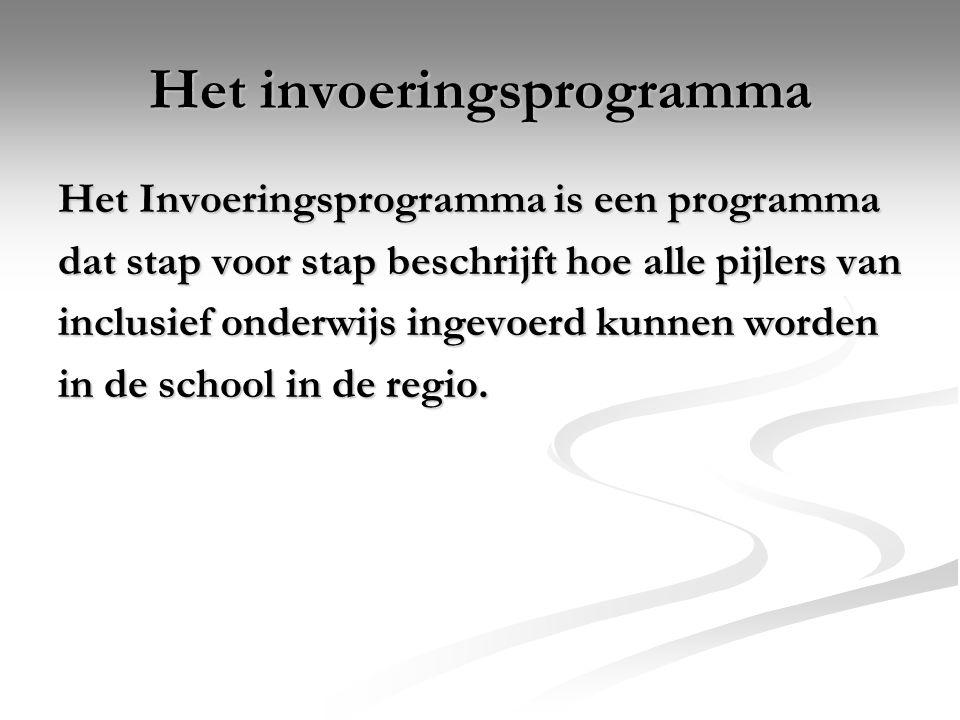 Het invoeringsprogramma