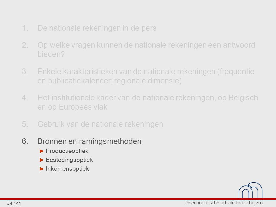 1. De nationale rekeningen in de pers