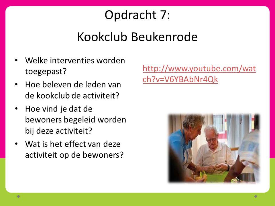 Opdracht 7: Kookclub Beukenrode