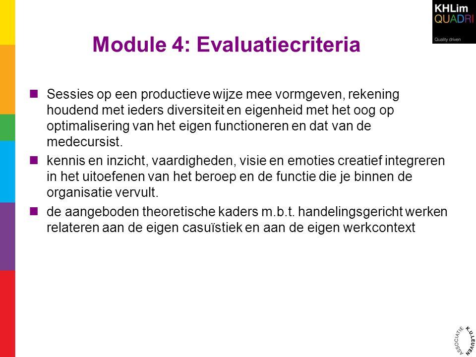 Module 4: Evaluatiecriteria