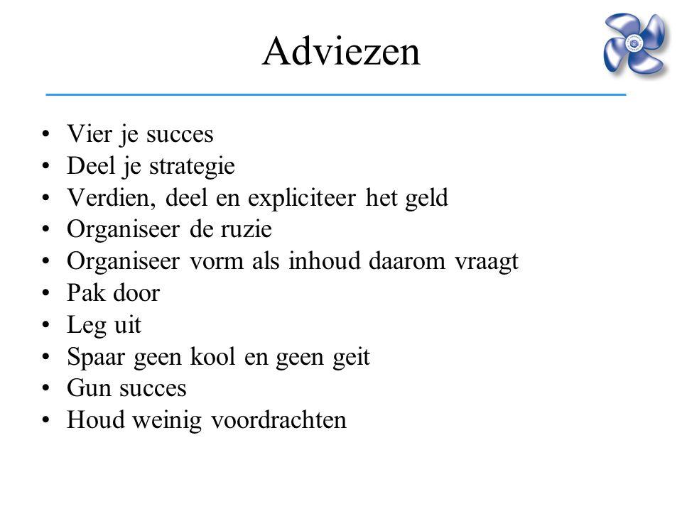 Adviezen Vier je succes Deel je strategie