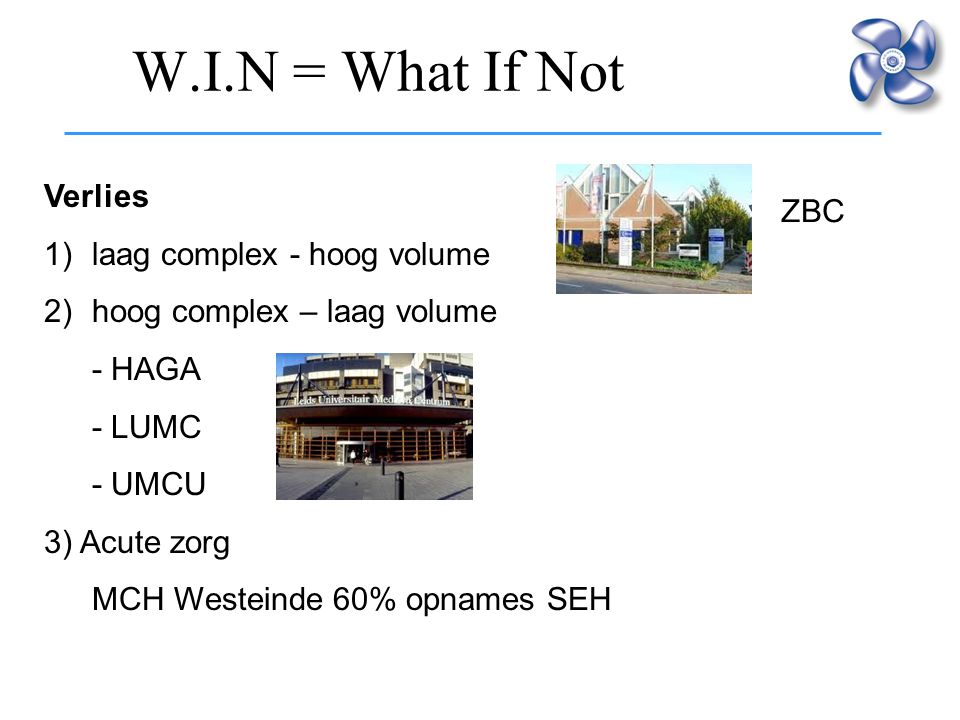 W.I.N = What If Not Verlies ZBC laag complex - hoog volume