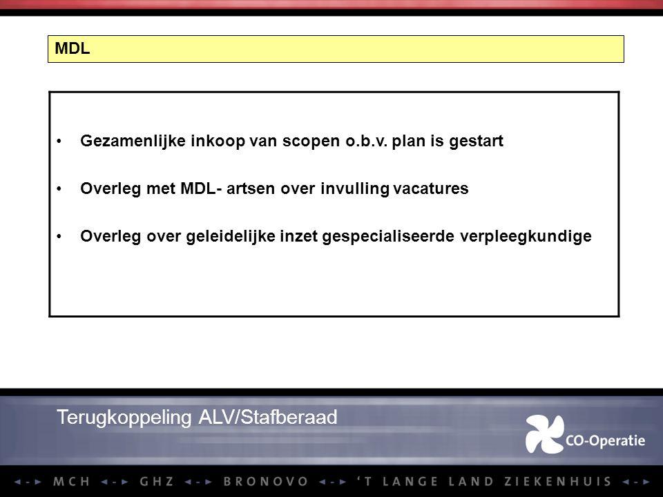 Terugkoppeling ALV/Stafberaad