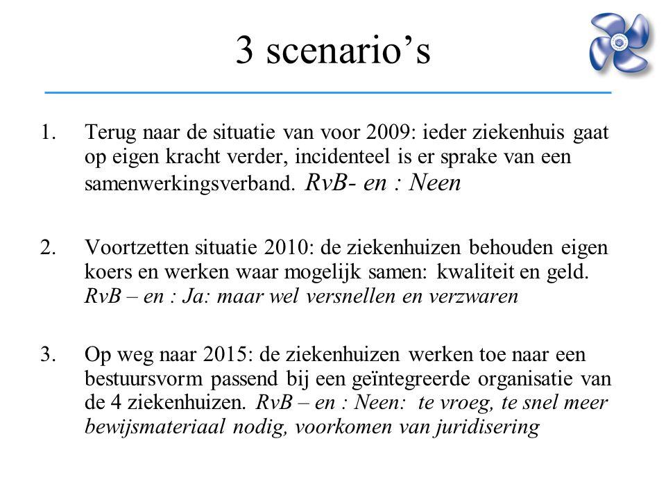 3 scenario's