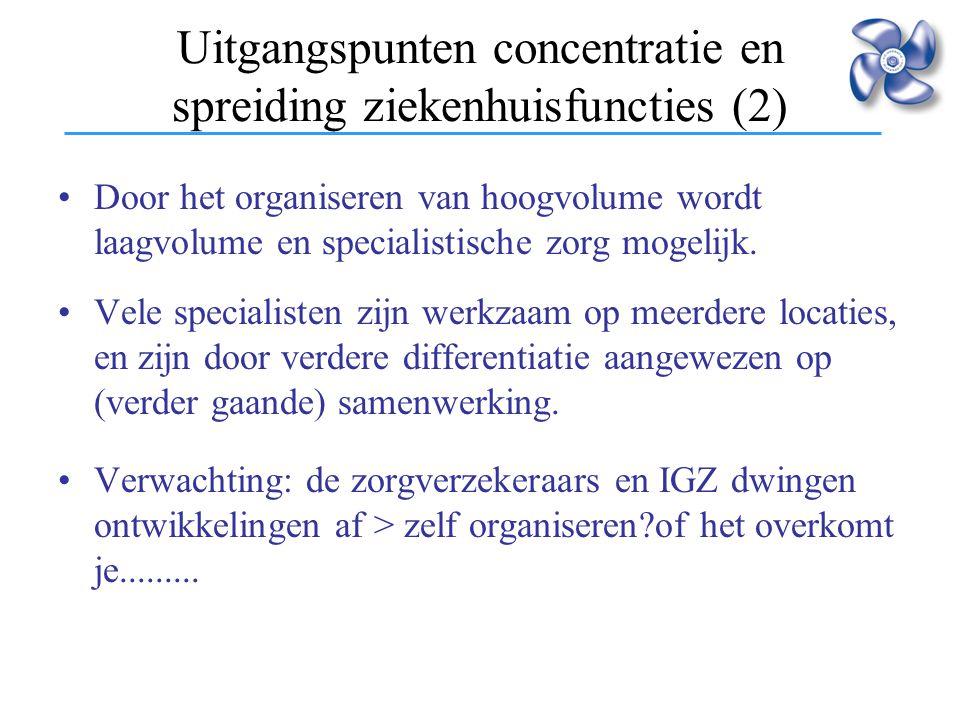 Uitgangspunten concentratie en spreiding ziekenhuisfuncties (2)