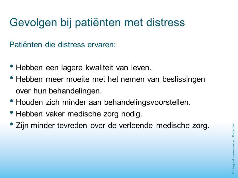 Gevolgen bij patiënten met distress