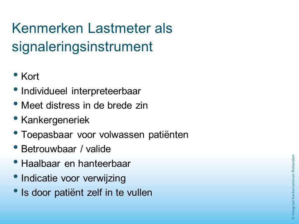 Kenmerken Lastmeter als signaleringsinstrument