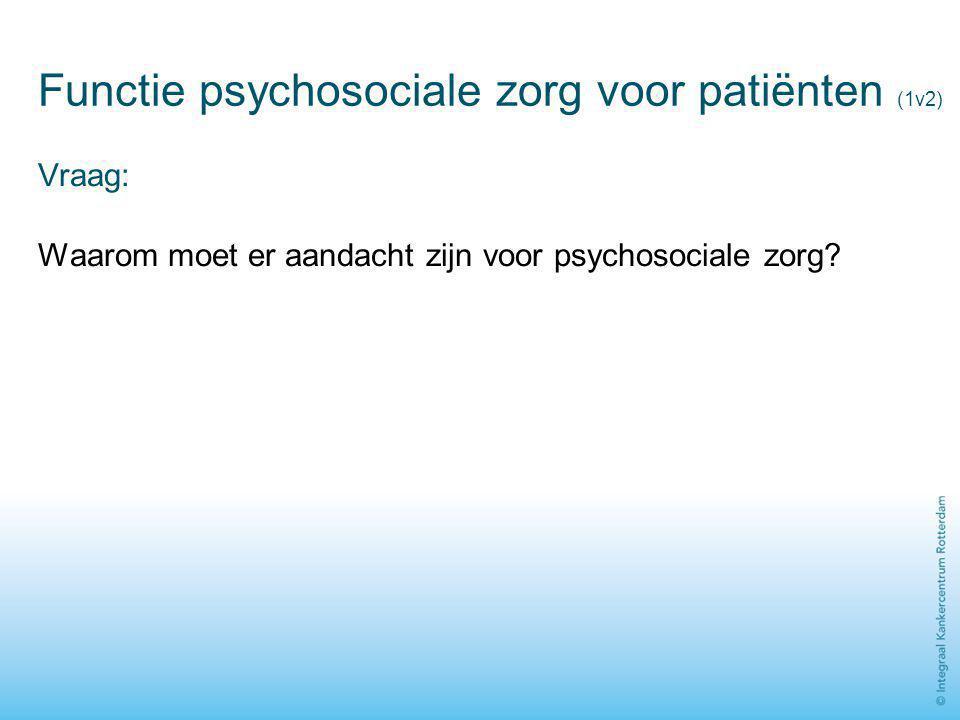 Functie psychosociale zorg voor patiënten (1v2)