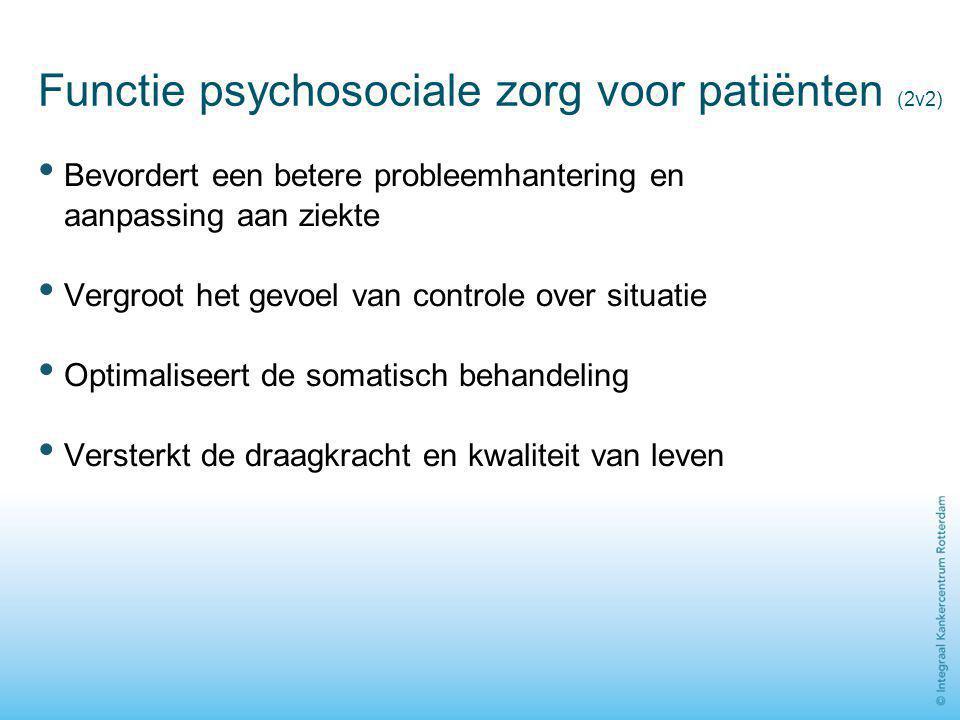 Functie psychosociale zorg voor patiënten (2v2)