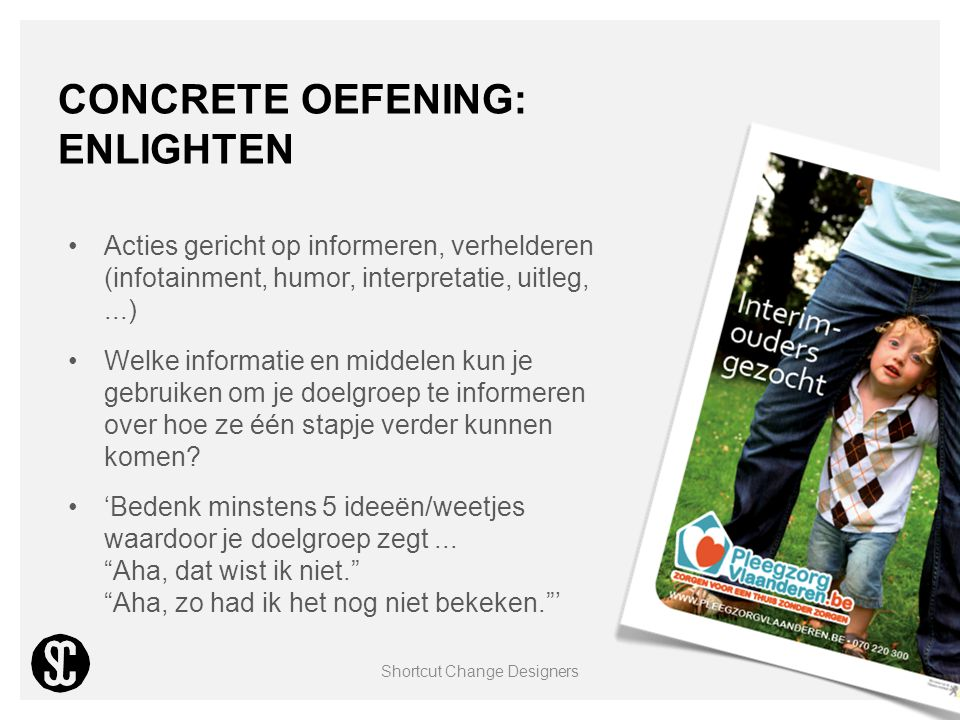 Concrete oefening: enlighten