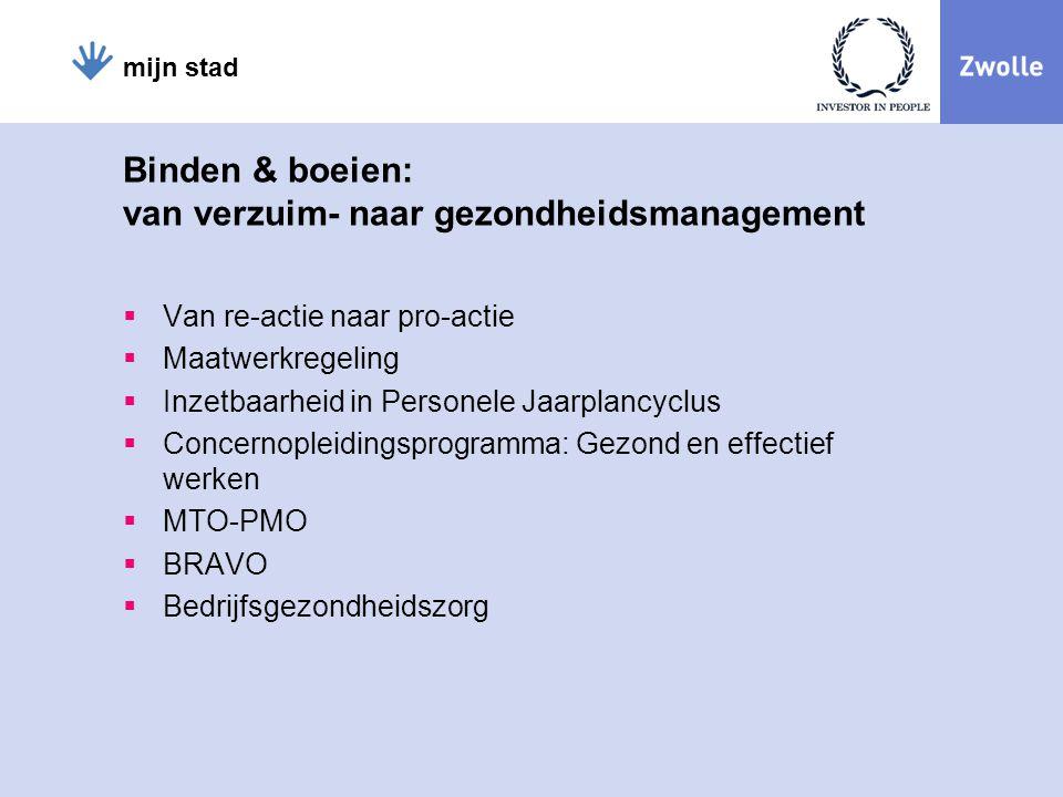Binden & boeien: van verzuim- naar gezondheidsmanagement