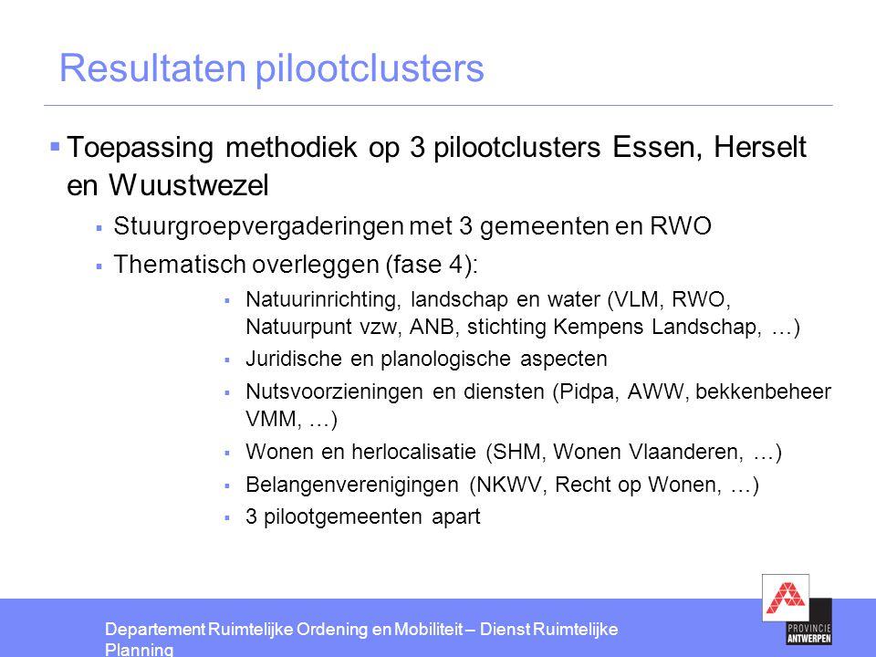 Resultaten pilootclusters