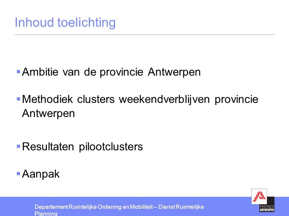 Inhoud toelichting Ambitie van de provincie Antwerpen