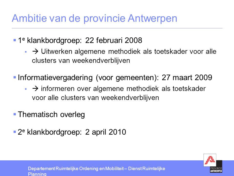 Ambitie van de provincie Antwerpen