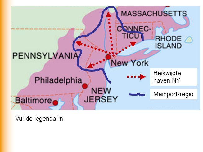 Reikwijdte haven NY Mainport-regio Vul de legenda in