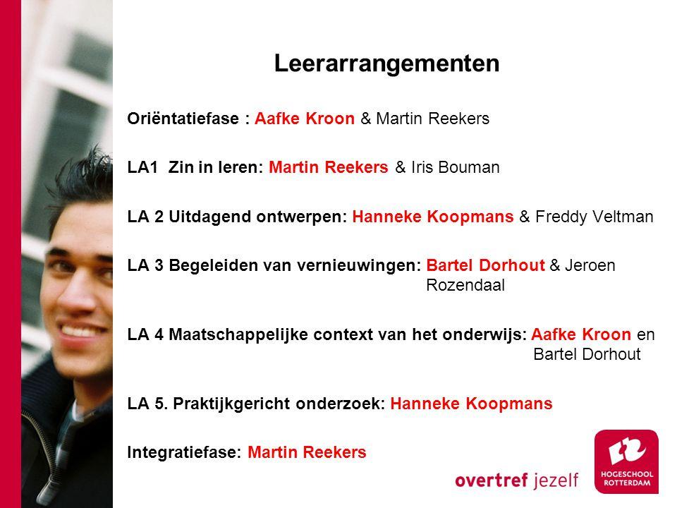 Leerarrangementen Oriëntatiefase : Aafke Kroon & Martin Reekers