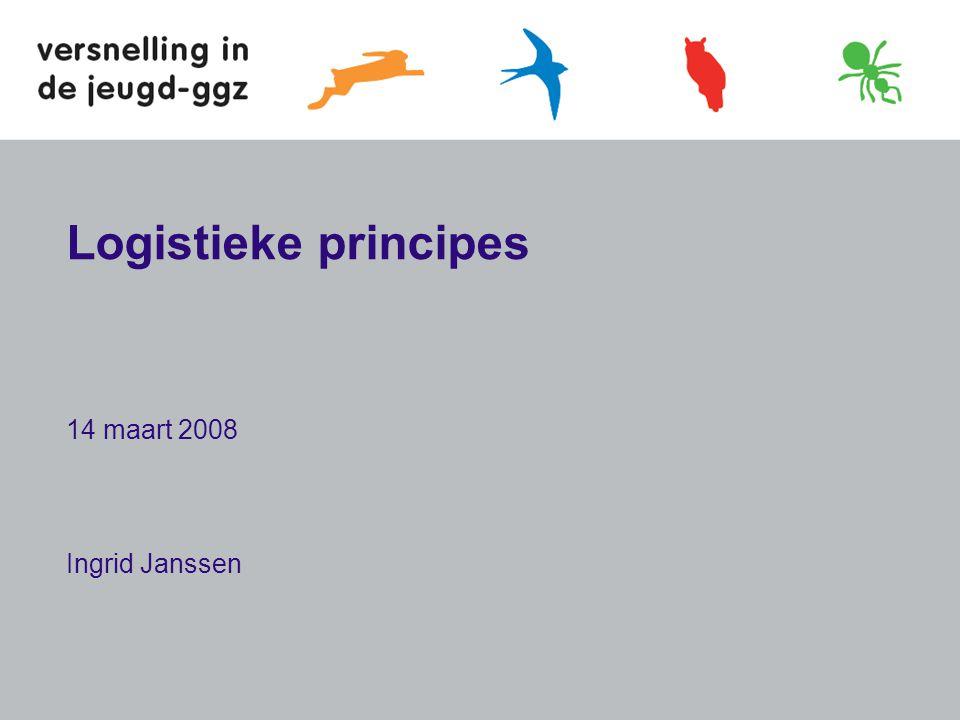 Logistieke principes 14 maart 2008 Ingrid Janssen