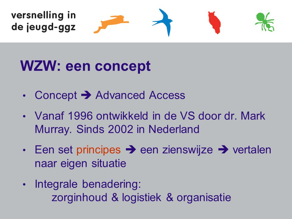 WZW: een concept Concept  Advanced Access