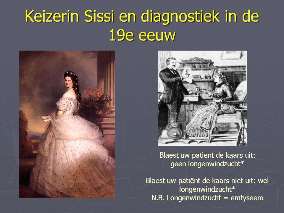 Keizerin Sissi en diagnostiek in de 19e eeuw