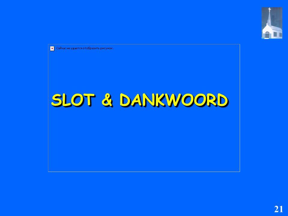 SLOT & DANKWOORD 21
