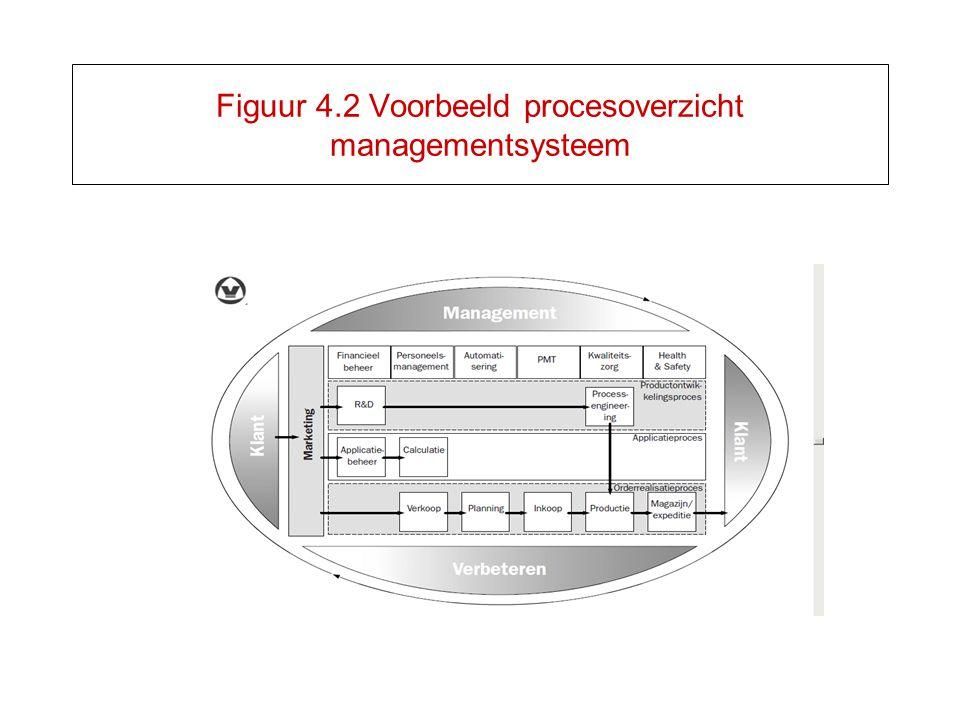 Figuur 4.2 Voorbeeld procesoverzicht managementsysteem