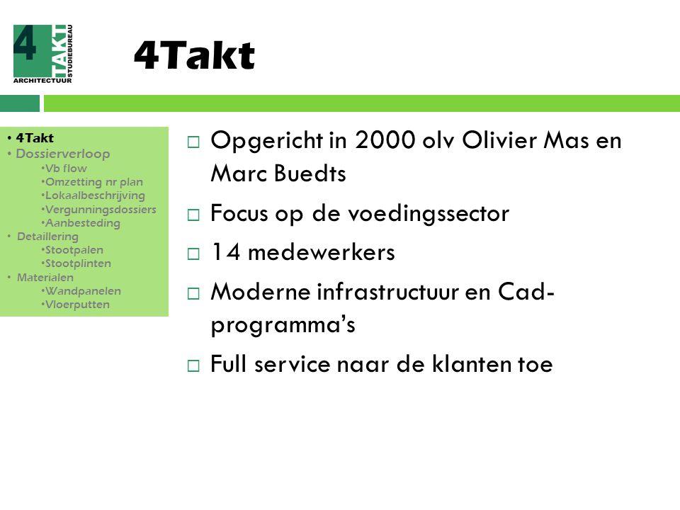4Takt Opgericht in 2000 olv Olivier Mas en Marc Buedts