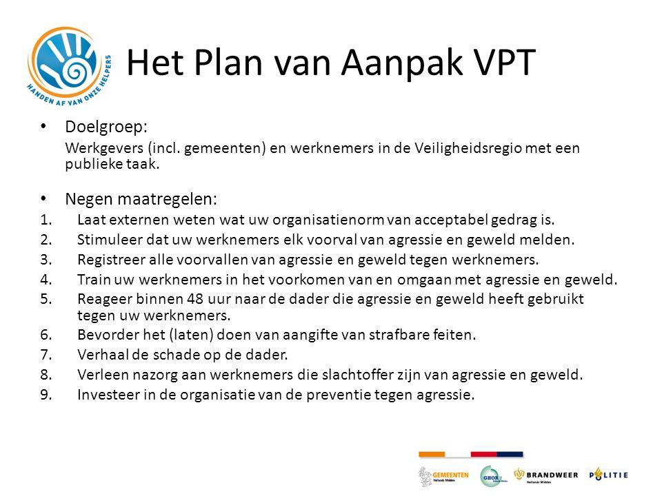 Het Plan van Aanpak VPT Doelgroep: Negen maatregelen: