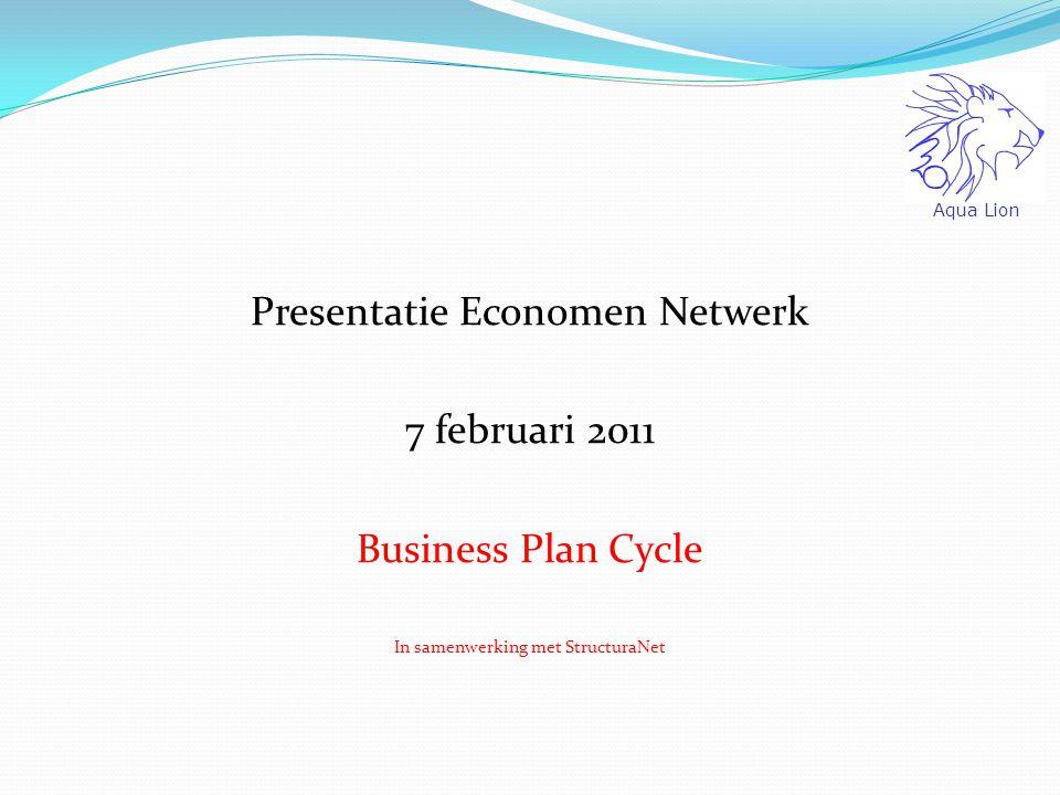 Presentatie Economen Netwerk 7 februari 2011 Business Plan Cycle