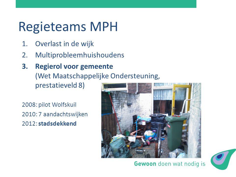 Regieteams MPH Overlast in de wijk Multiprobleemhuishoudens