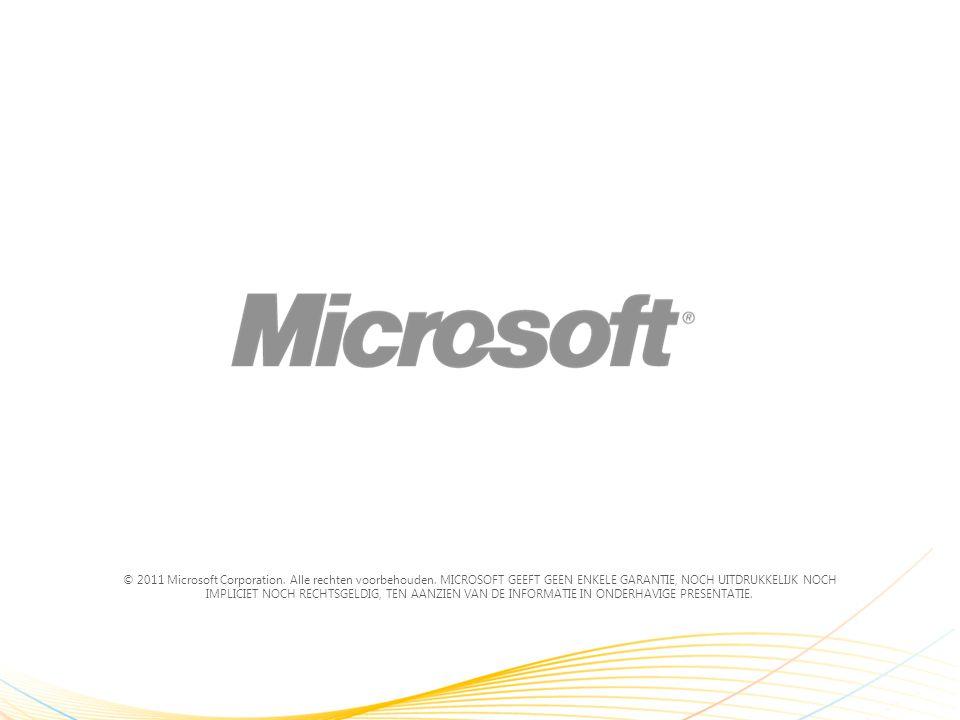 © 2011 Microsoft Corporation. Alle rechten voorbehouden