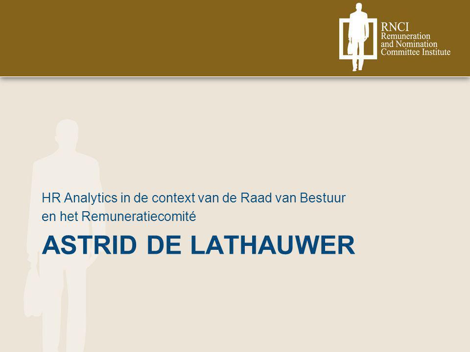Astrid De Lathauwer HR Analytics in de context van de Raad van Bestuur