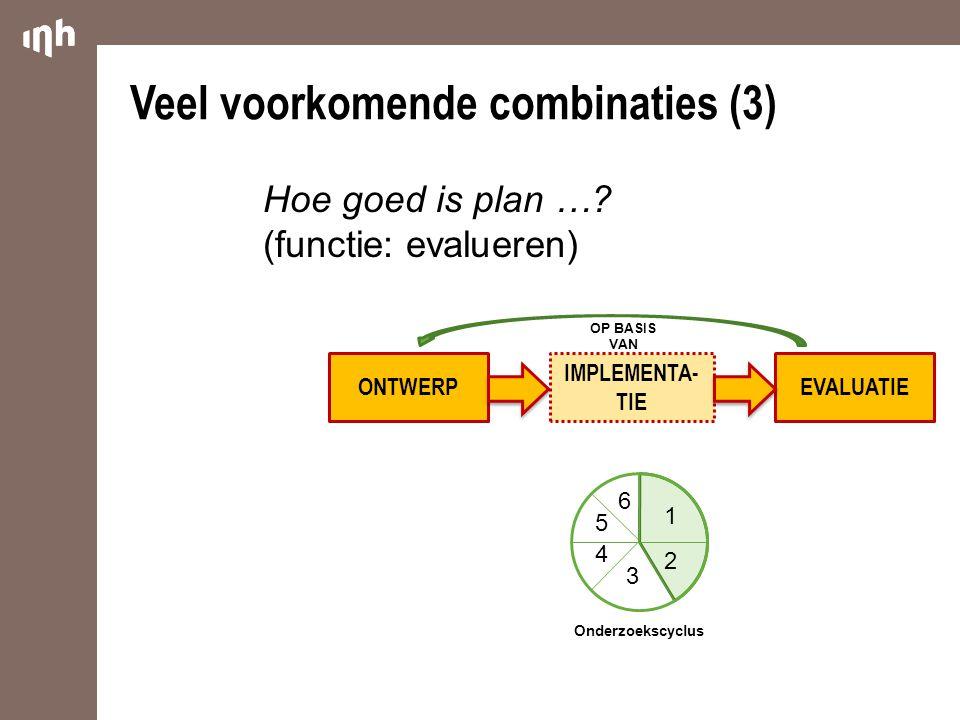 Veel voorkomende combinaties (3)