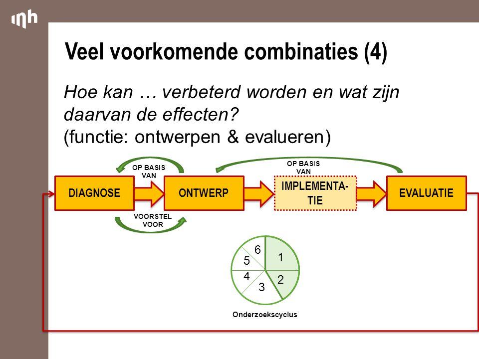 Veel voorkomende combinaties (4)