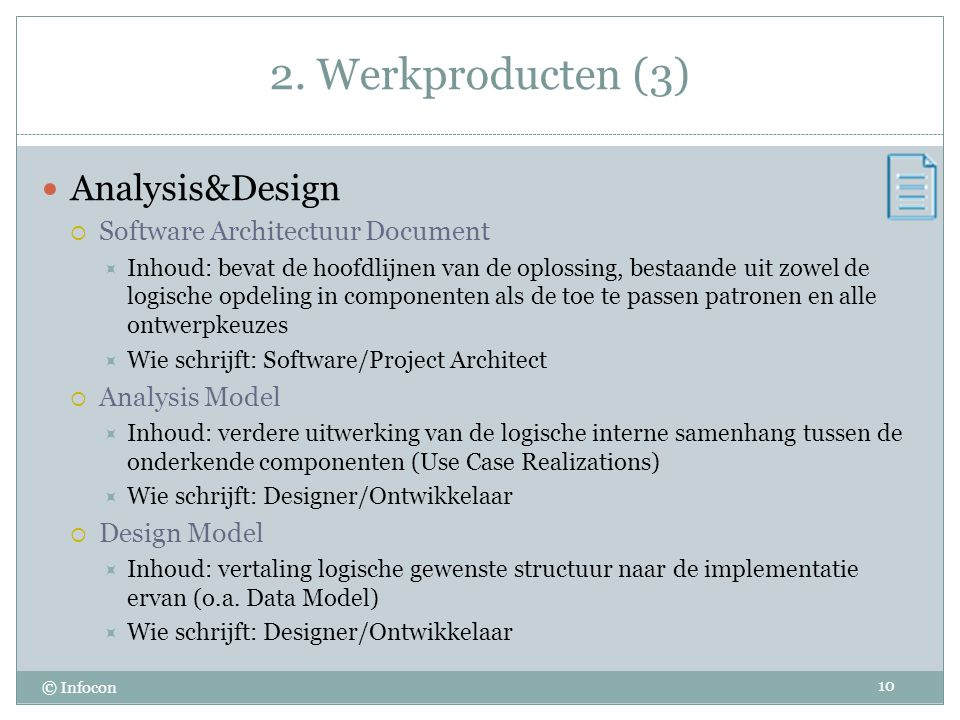 2. Werkproducten (3) Analysis&Design Software Architectuur Document