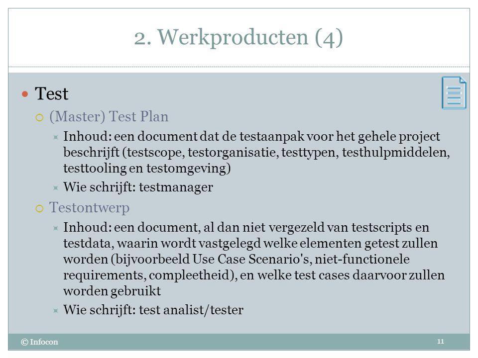 2. Werkproducten (4) Test (Master) Test Plan Testontwerp